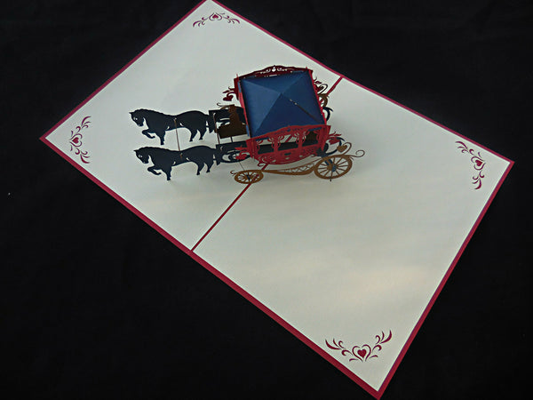 Carriage 3D Pop Up Greeting Card 3