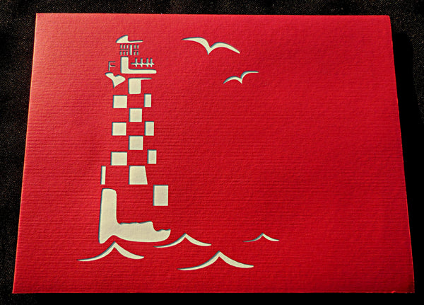 Light House 3D Pop Up Greeting Card 3