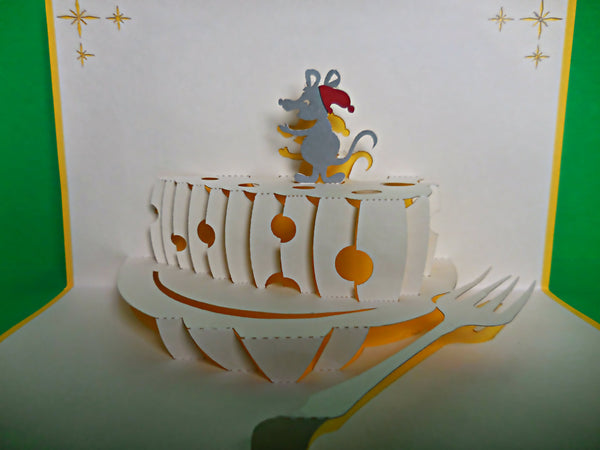 Mouse N Cheese 3D Pop Up Greeting Card 2