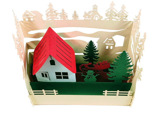 Country Cottage 3D Pop Up Centerpiece 2