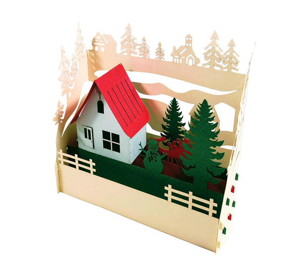 Country Cottage 3D Pop Up Centerpiece 4
