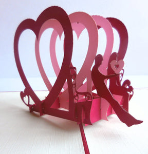 Couple Heart 3D Pop Up Greeting Card 1