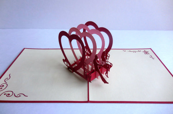 Couple Heart 3D Pop Up Greeting Card 2