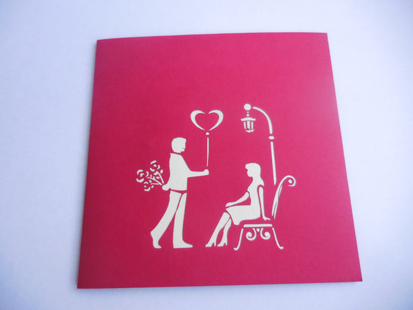 Couple Heart 3D Pop Up Greeting Card 3