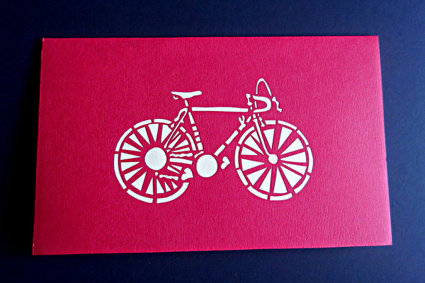 Couple With Bike 3D Pop Up Greeting Card 3