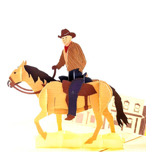 Cowboy 3D Pop Up Greeting Card 1 front