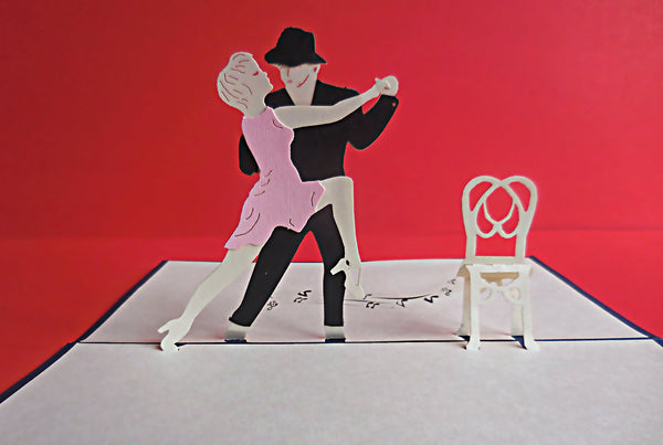 Dancers 3D Pop Up Greeting Card 2