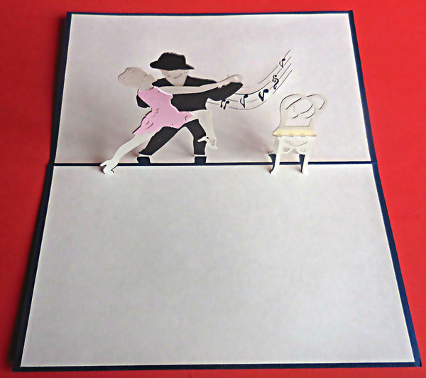 Dancers 3D Pop Up Greeting Card 3