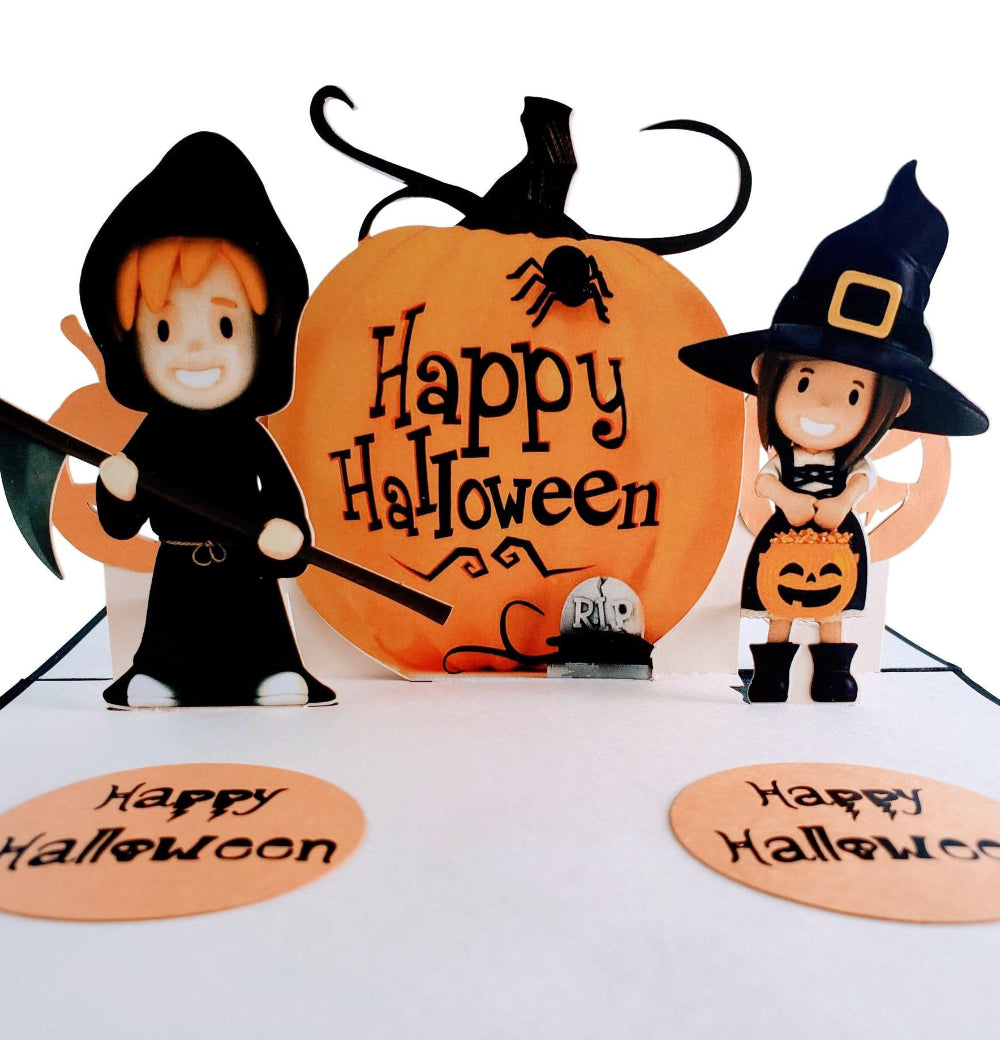 Dazzling Cute Halloween 3D Pop Up Greeting Card 1 front