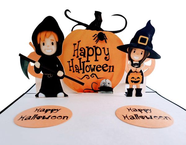 Dazzling Cute Halloween 3D Pop Up Greeting Card 1