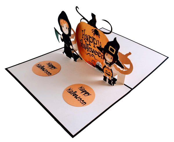 Dazzling Cute Halloween 3D Pop Up Greeting Card 3