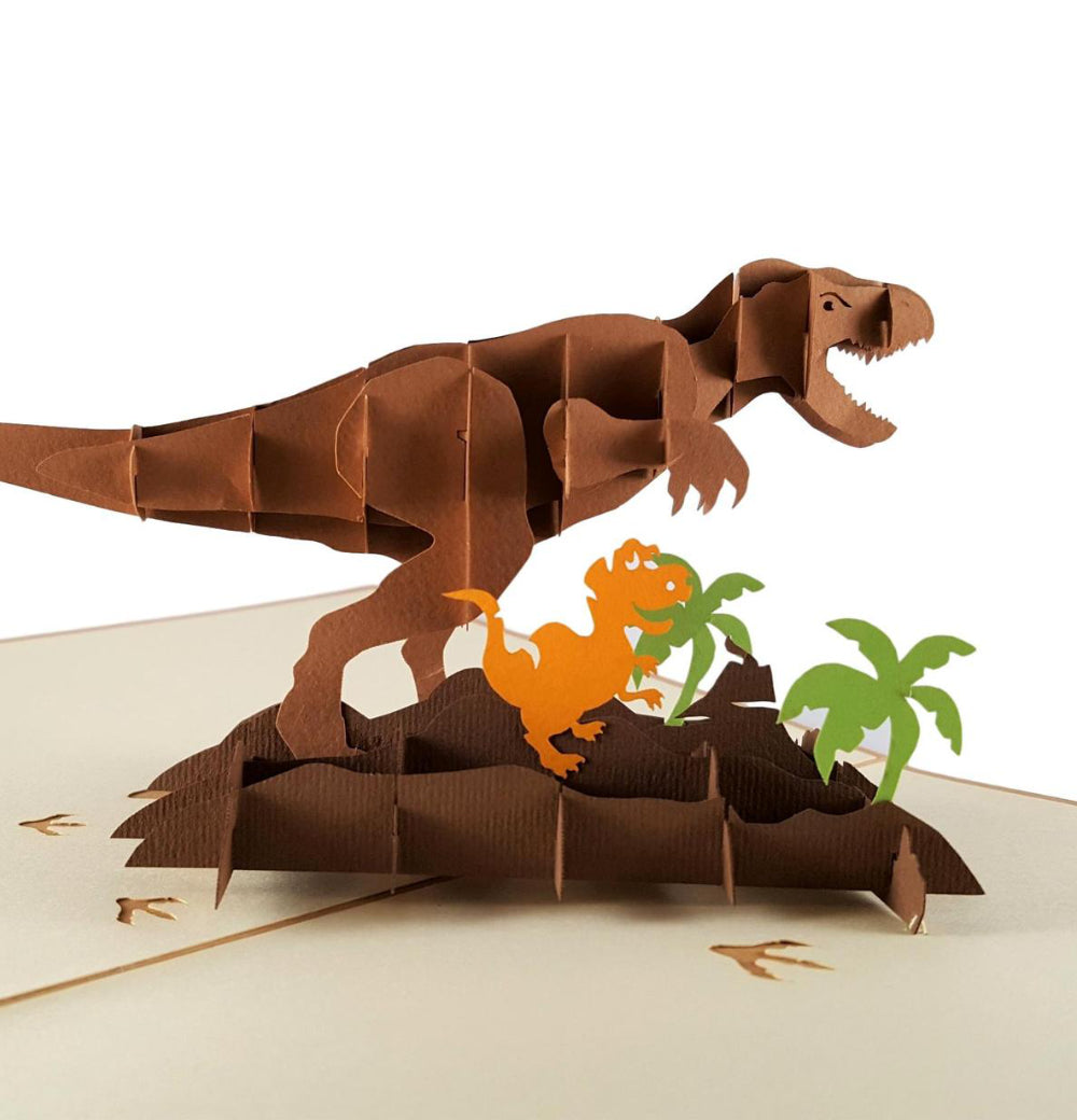 Dinosaurs 3D Pop Up Greeting Card 1
