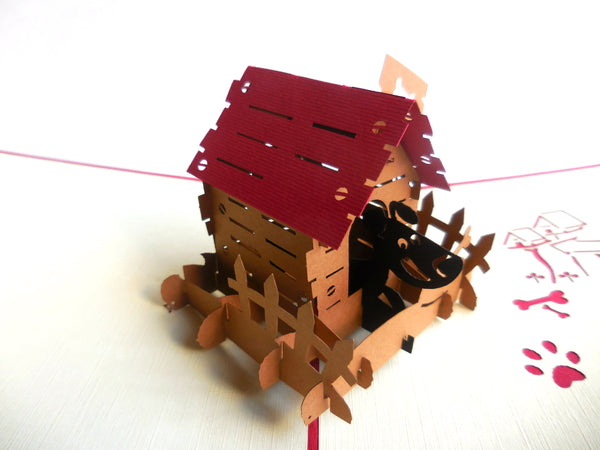 Dog House 3D Pop Up Greeting Card 2