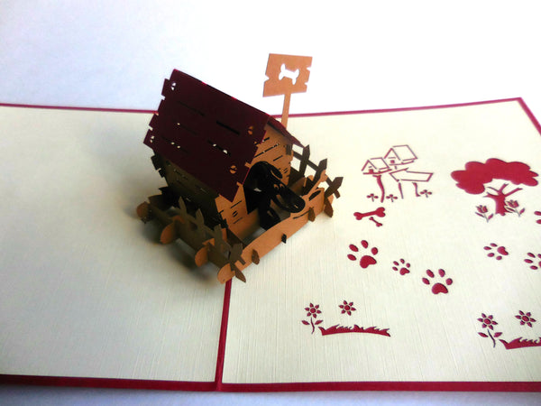 Dog House 3D Pop Up Greeting Card 3