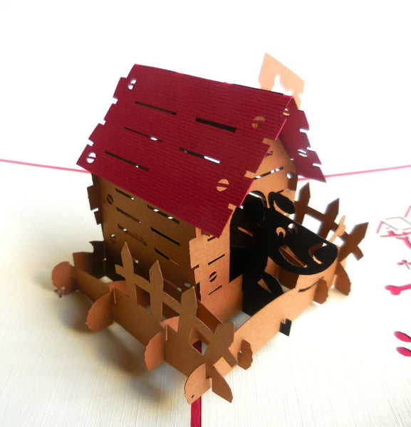 Dog House 3D Pop Up Greeting Card 1