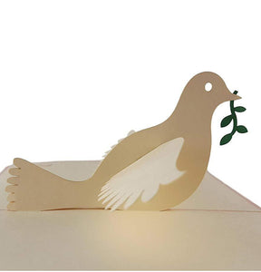 Dove With Olive Branch 3D Pop Up Greeting Card 1