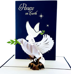 Dove With Olive Branch 3D Pop Up Greeting Card 1 front