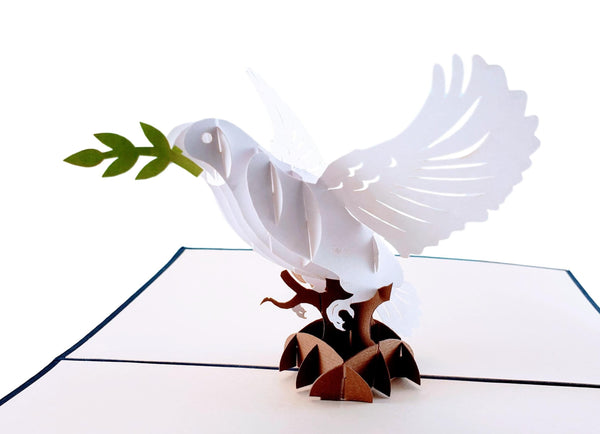 Dove With Olive Branch 3D Pop Up Greeting Card 3