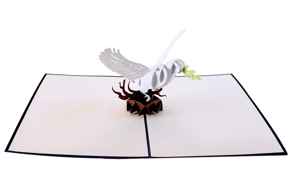 Dove With Olive Branch 3D Pop Up Greeting Card 5