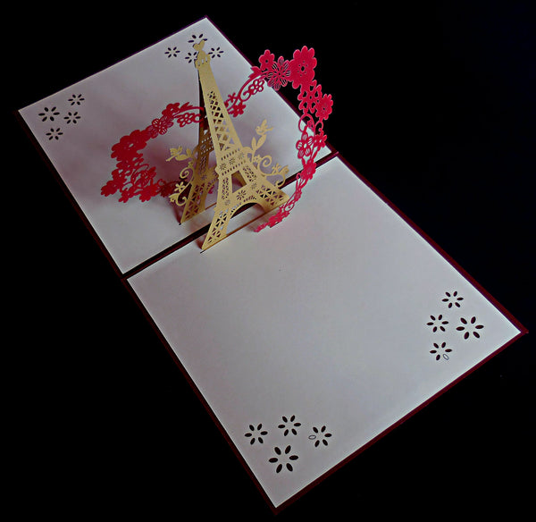 Eiffel With Love 3D Pop Up Greeting Card 2