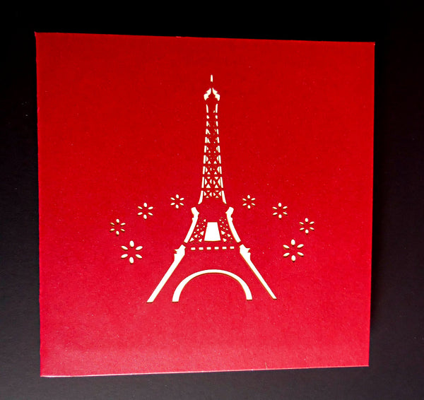 Eiffel With Love 3D Pop Up Greeting Card 3