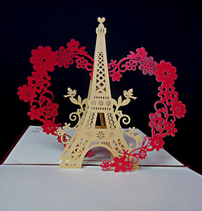 Eiffel With Love 3D Pop Up Greeting Card 1