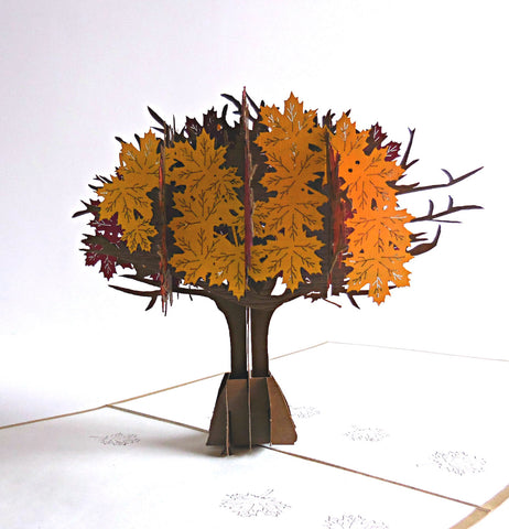 Fall Tree 3D Pop Up Greeting Card 1