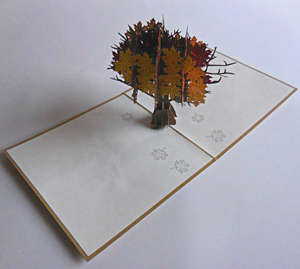 Fall Tree 3D Pop Up Greeting Card 2