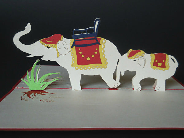 Fancy Elephants 3D Pop Up Greeting Card 2