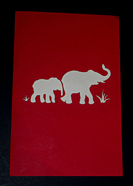 Fancy Elephants 3D Pop Up Greeting Card 4