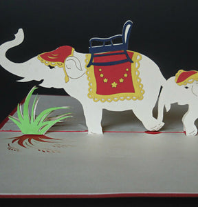 Fancy Elephants 3D Pop Up Greeting Card 1