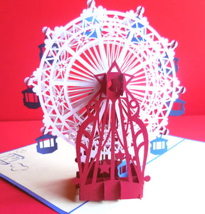 Ferris Wheel 3D Pop Up Greeting Card 1