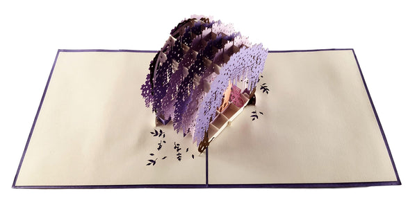 Wisteria Arbor 3D Pop Up Greeting Card 2