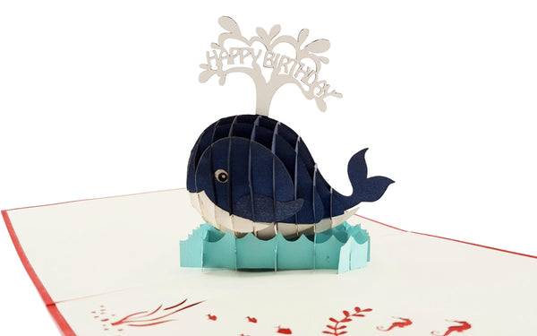 Whale Birthday 3D Pop Up Greeting 2