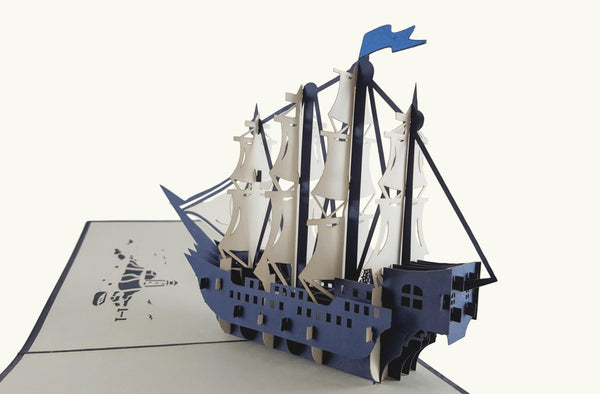 Clipper Ship 3D Pop Up Greeting Card 7
