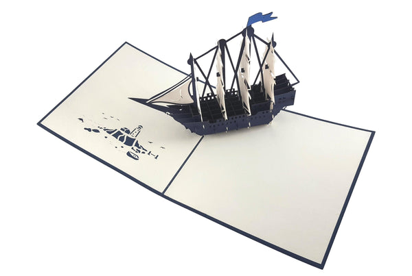 Clipper Ship 3D Pop Up Greeting Card 3
