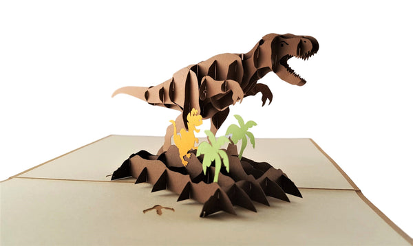 Dinosaurs 3D Pop Up Greeting Card 2