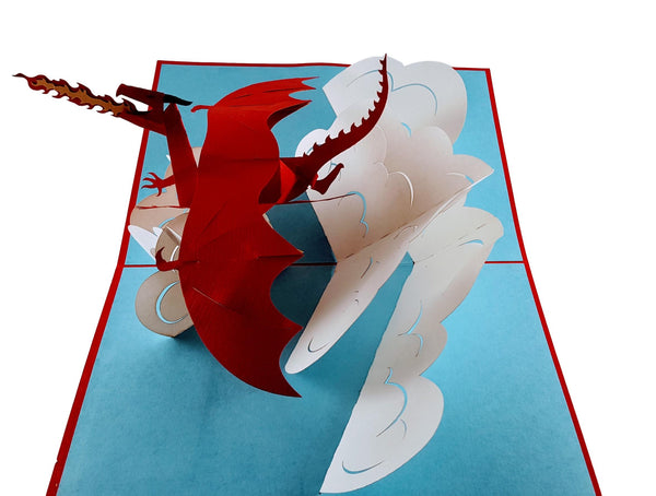 Fire Breathing Dragon 3D Pop Up Greeting Card 3