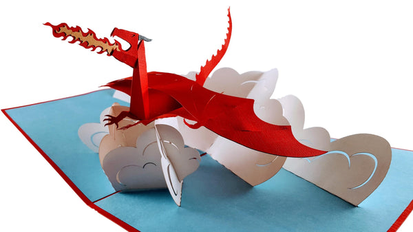 Fire Breathing Dragon 3D Pop Up Greeting Card 2