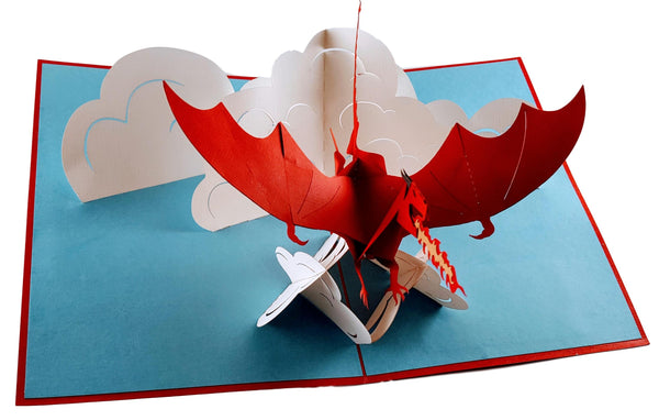 Fire Breathing Dragon 3D Pop Up Greeting Card 5