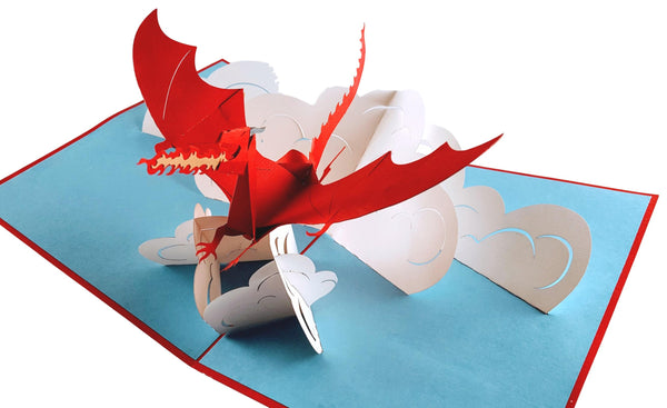 Fire Breathing Dragon 3D Pop Up Greeting Card 6