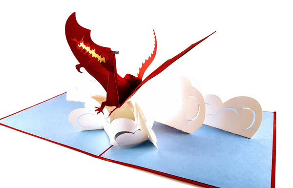 Fire Breathing Dragon 3D Pop Up Greeting Card 7