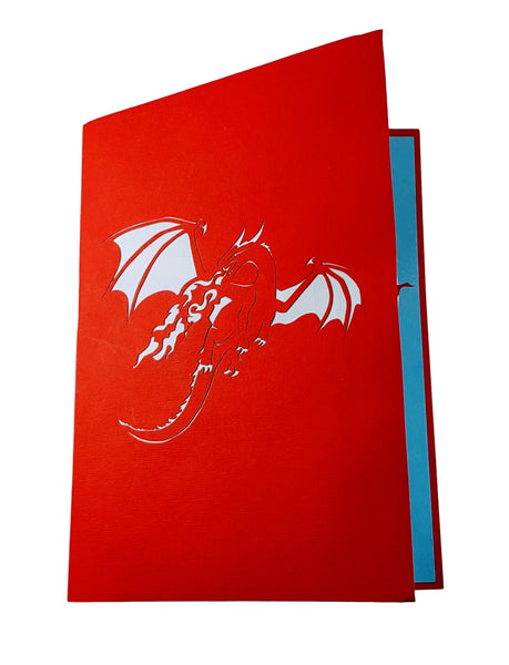 Fire Breathing Dragon 3D Pop Up Greeting Card 8