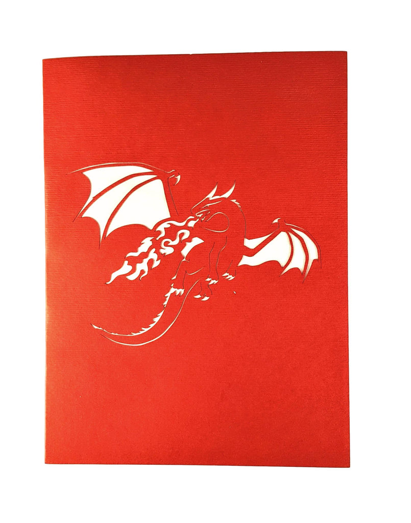Fire Breathing Dragon 3d Pop Up Greeting Card Igifts And Cards