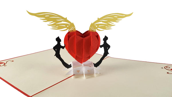 Gay Heart 3D Pop Up Greeting Card 2