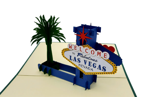 Las Vegas 3D Pop Up Greeting Card 2