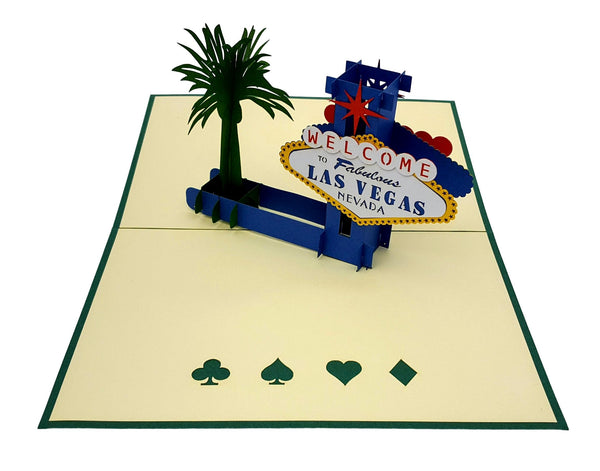 Las Vegas 3D Pop Up Greeting Card 3