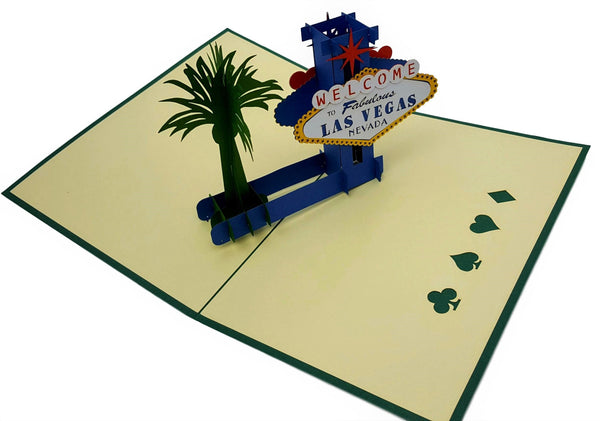 Las Vegas 3D Pop Up Greeting Card 4