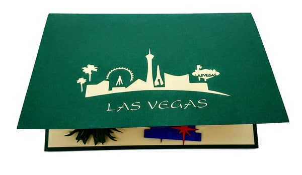 Las Vegas 3D Pop Up Greeting Card 5