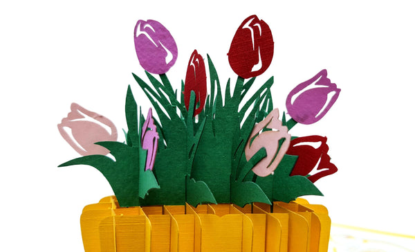 Rain Boot Flower Arrangement 3D Pop Up Greeting Card 5